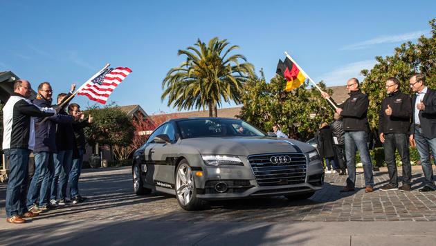 Robo-Audi fährt fahrerlos zur CES nach Las Vegas (Bild: Audi)