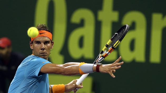 Nadal bei seinem Comeback gleich rausgesegelt! (Bild: AP)