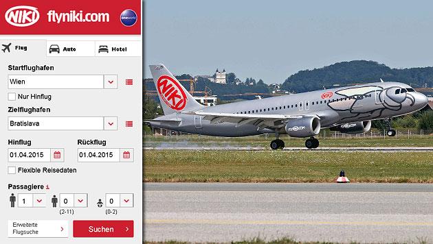 Niki fliegt ab April von Wien nach Bratislava (Bild: Markus Tschepp, flyniki.com)