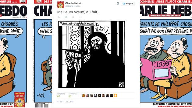 Letzter Tweet kurz vor dem Anschlag: ein Bild von IS-Terrorchef Al-Bagdadi (Bild: Twitter.com)