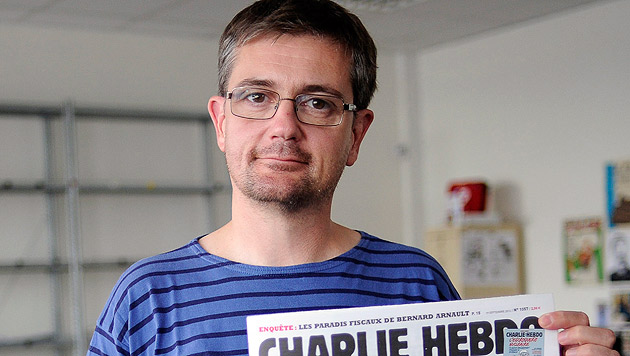 """""""Charlie Hebdo""""-Herausgeber Stephane Charbonnier wurde bei dem Angriff auf die Redaktion getötet. (Bild: APA/EPA/YOAN VALAT)"""