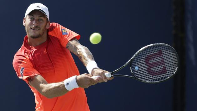Andreas Haider-Maurer steht im Viertelfinale (Bild: APA/EPA/PETER FOLEY)