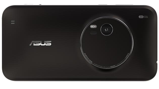 Die Kamera des Zenfone Zoom bietet optischen Dreifach-Zoom und einen Dual-LED-Blitz. (Bild: Asus)