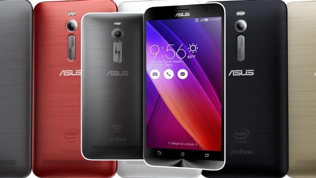 Das Zenfone 2 bringt Asus in vielen verschiedenen Farben auf den Markt. (Bild: Asus)
