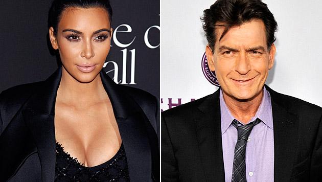 Kim Kardashian wurde via Twitter von Charlie Sheen beschimpft. (Bild: APA/EPA/JIMMY MORRIS, AP)