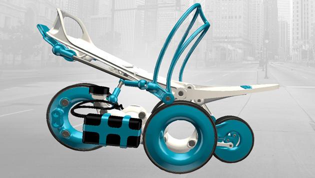 Die Hightech-Rollschuhe Rollkers vom französischen Erfinder Paul Chavand. (Bild: Rollkers.com)