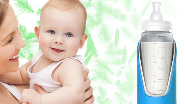 Die intelligente Babyflasche von Slow Control misst dir Trinkgeschwindigkeit der lieben Kleinen. (Bild: Slow Control)