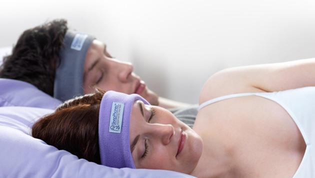 Die Sleepphones sollen mit Musik und hypnotischen Klängen für besseren Schlaf sorgen. (Bild: Accoustic Sleep)