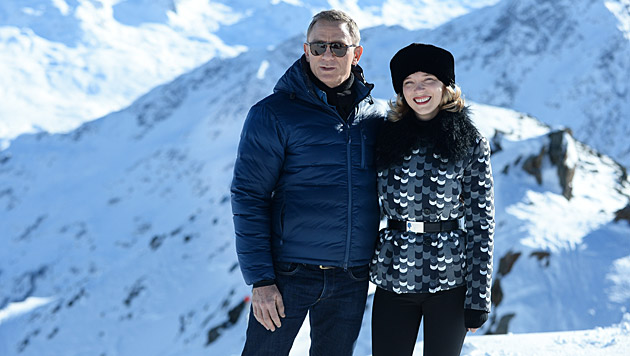 Daniel Craig und sein Bond-Girl Lea Seydoux (Bild: APA/BARBARA GINDL)