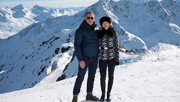 Daniel Craig und Lea Seydoux sind bereits in Sölden angekommen. (Bild: Starpix/Alexander Tuma)