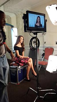 Julia Furdea bei einem ihrer ersten Interviews (Bild: Julia Furdea)