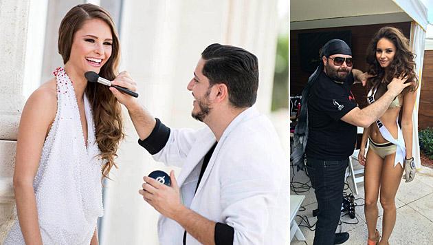 In Miami stehen die ersten Fotoshootings für Julia Furdea an. (Bild: Miss Universe, Julia Furdea)