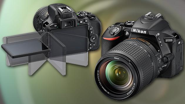 nikon d5500 neue dx spiegelreflexkamera mit touch drehbares display digital. Black Bedroom Furniture Sets. Home Design Ideas