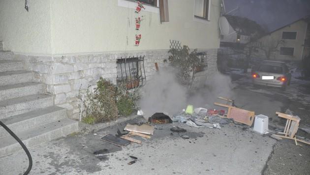 Die Einrichtung der Küche wurde schwer beschädigt. (Bild: J.Eggenreich/ Bereichsfeuerwehrverband Weiz)