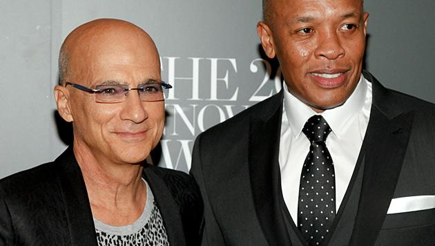 Musikproduzent Jimmy Iovine und Rapper Dr. Dre (Bild: AP)