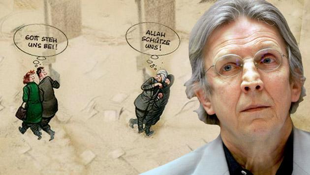 Das sagt Österreichs Star-Karikaturist zu Paris (Bild: APA/ROLAND SCHLAGER, twitter.com)