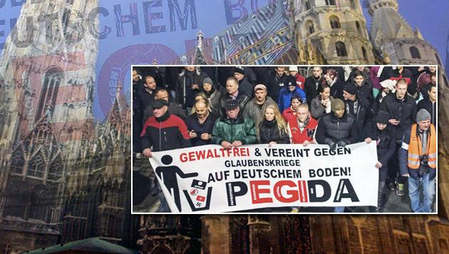 Erste Details zu Pegida-Demo in Wien (Bild: APA/EPA/MATTHIAS HIEKEL, AP, APA/GEORG HOCHMUTH)