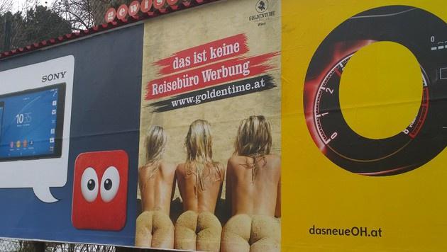 """Dieses Plakat hängt direkt neben einem Kinderspielplatz (Bild: """"Krone""""-Leserreporter)"""