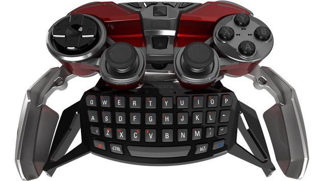 Das 300-Dollar-Gamepad kann mit einer Ansteck-Tastatur aufgerüstet werden. (Bild: Mad Catz)