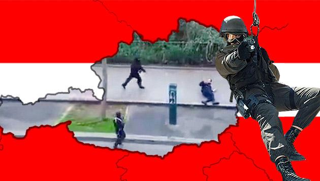 Wie sicher sind wir noch vor dem Terror? (Bild: Wikicommons/Zedlik, YouTube.com, Christoph Matzl)