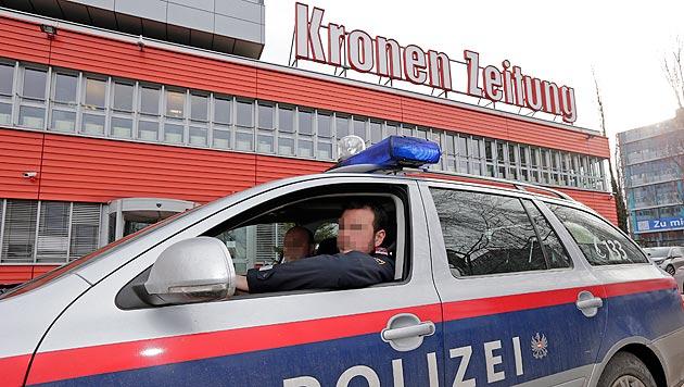 """""""Wir Polizisten sind uns der Gefahr bewusst"""" (Bild: Klemens Groh, krone.at-Grafik)"""