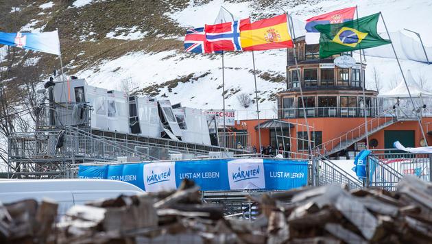 Die Weltcup-Abfahrt der Damen in Bad Kleinkirchheim wurde wegen Sturmschäden vorerst abgesagt. (Bild: APA/EXPA/Johann Groder)