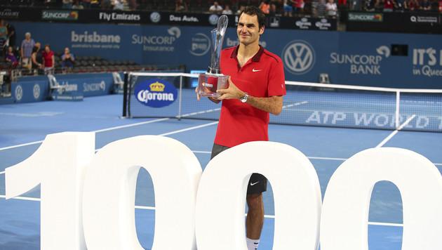 """Roger Federer knackt """"1000er"""" mit 83. Turniersieg (Bild: AP)"""