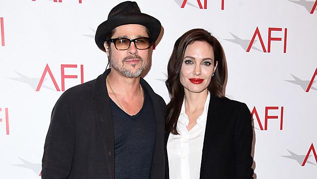 Brad Pitt und Angelina Jolie (Bild: Jordan Strauss/Invision/AP)