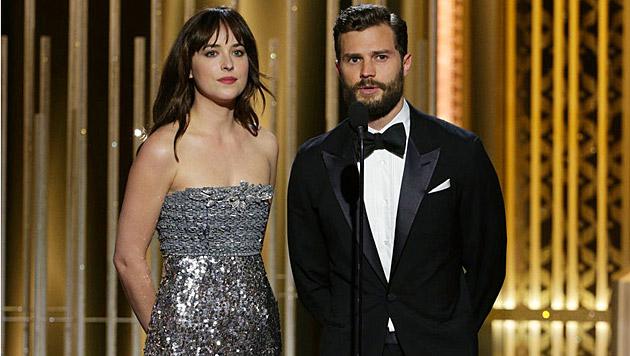 """Die """"Fifty Shades of Grey""""-Stars Dakota Johnson und Jamie Dornan"""
