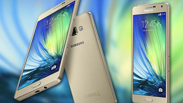 Galaxy A7: Schlanker Achtkern-Androide von Samsung (Bild: Samsung, krone.at-Grafik)