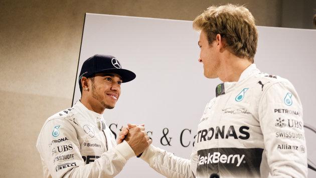 Rosberg und Hamilton schuften für neues WM-Duell (Bild: APA/dpa)