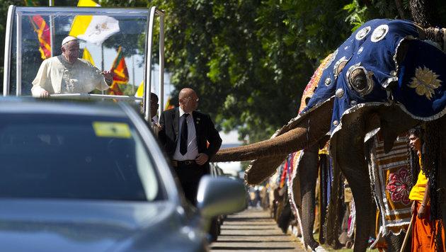 Papst in Sri Lanka Heilungsprozess unterstützen  Nach