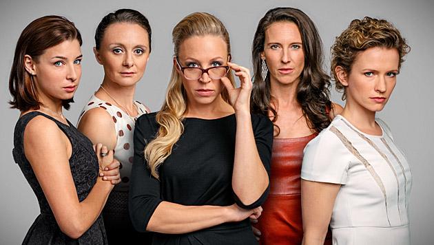 Martina Ebm, Gerti Drassl, Nina Proll, Maria Köstlinger, Adina Vetter (Bild: ORF)