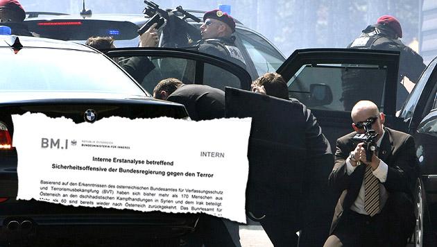 """Acht-Punkte-Plan gegen die akute Terrorgefahr (Bild: HANS KLAUS TECHT, """"Krone"""")"""