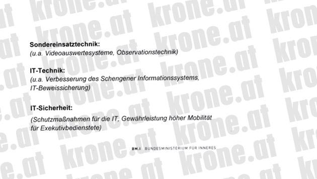 """Acht-Punkte-Plan gegen die akute Terrorgefahr (Bild: """"Krone"""")"""