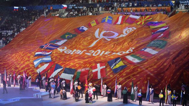 Bombastische Show: Handball-WM in Katar eröffnet (Bild: GEPA)