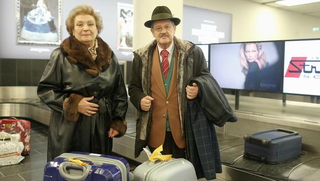 Rosa La Monica und Antonio Di Domenico glücklich in Wien (Bild: Gerhard Bartel)