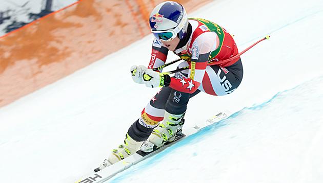 Vonn holt die Trainingsbestzeit in Cortina (Bild: APA/EPA/JOHANN GRODER)