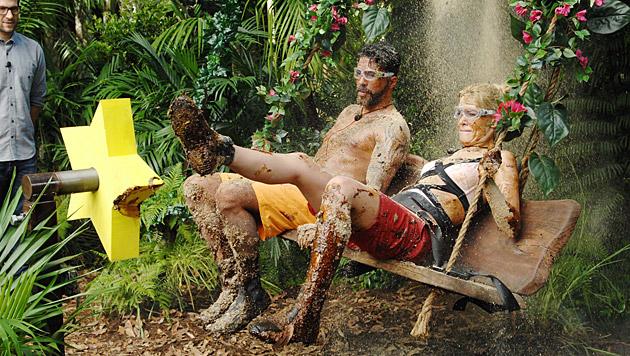 Aurelio und Sara bei der Dschungelprüfung (Bild: RTL/Stefan Menne)