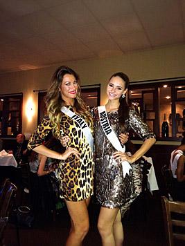 """Julia und die """"Miss Italien"""" (Bild: Julia Furdea)"""