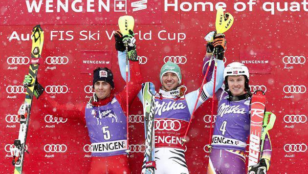 Österreicher im Wengen-Slalom nur Statisten (Bild: AP)