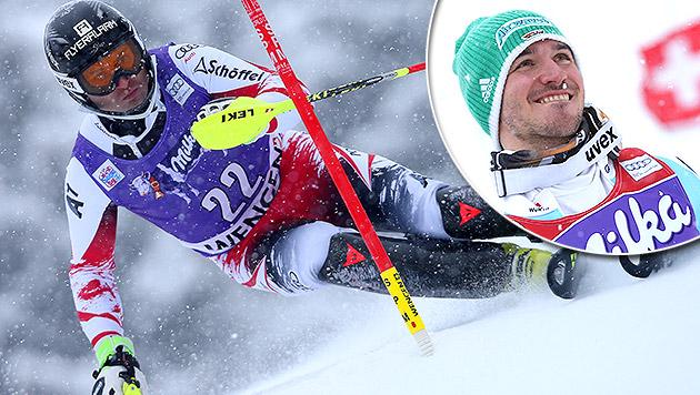 Österreicher im Wengen-Slalom nur Statisten (Bild: GEPA, AP)