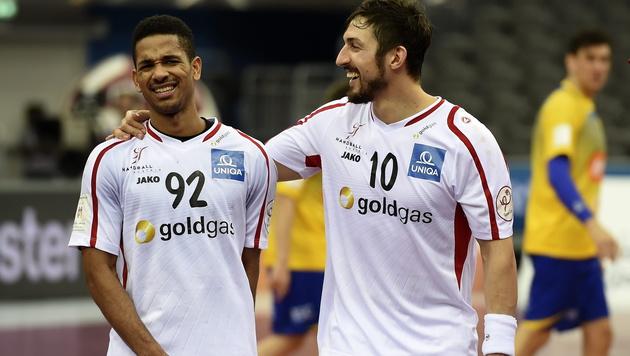 Raul Santos und Lucas Mayer (Bild: APA/Qatar 2015 via epa/Gjorgji Licovski)