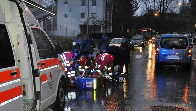 Einer der beiden Unfallorte in Innsbruck (Bild: APA/DANIEL LIEBL/ZEITUNGSFOTO.AT)