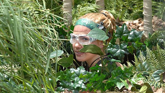 Angelina nach ihrer Dschungelprüfung (Bild: RTL/Stefan Menne)