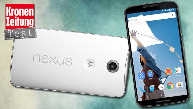 Nexus 6 im Test: Das kann das neue Google-Handy (Bild: Google/Motorola, thinkstockphotos.de, krone.at-Grafik)