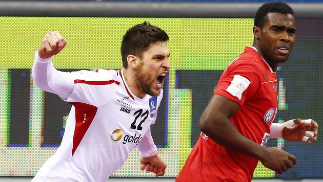Österreichs Handballer nur Remis gegen Tunesien (Bild: APA/Qatar 2015 via epa/Nic Bothma)