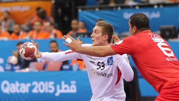 Österreichs Handballer nur Remis gegen Tunesien (Bild: AFP)