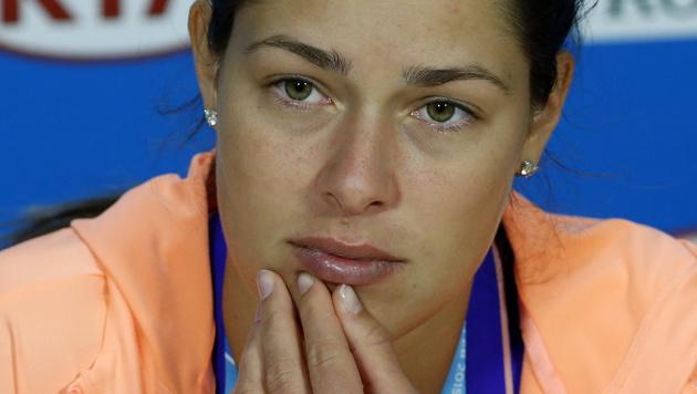 Tränen bei der Pressekonferenz: Ivanovic ist fassungslos. (Bild: APA/EPA/Barbara Walton)