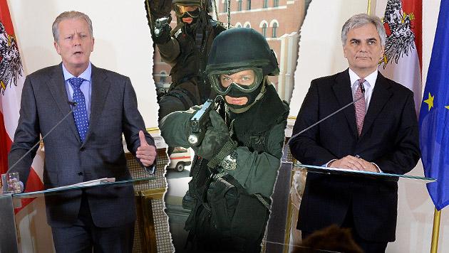 290 Millionen Euro f�r Kampf gegen den Terror (Bild: APA/ROLAND SCHLAGER, Kronen Zeitung, krone.at-Grafik)
